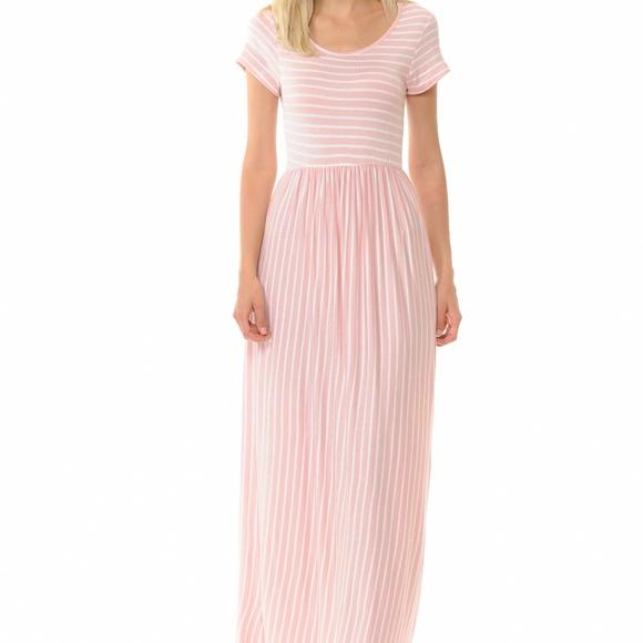 ffd57387a5 Light Pink Striped Maxi Dress